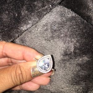 Jewelry - Size 6 shiny and pretty promise,cocktail ring 925